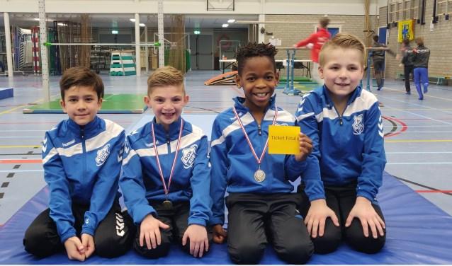 Op zaterdag 23 maart stond er voor de heren van DOK een finale op het programma.  Op de foto de trotse turners van gymnastiekvereniging DOK uit Ede.