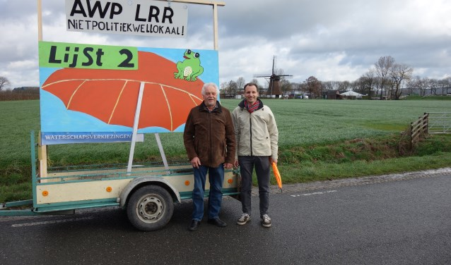 Guido van der Wedden en Koos van der Eijk willen meer aandacht voor burgers in de waterschappen. (Foto Michel Plass)