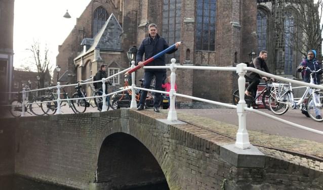 Dijkgraaf Piet-Hein Daverveldt heeft zijn stempotlood al geslepen (foto: Annemarie de Vries).