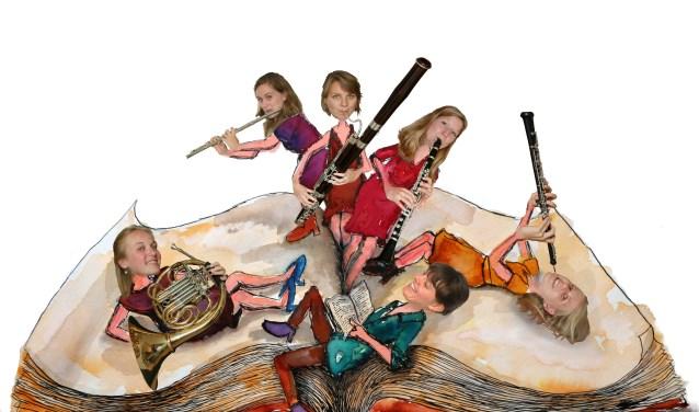 Het Epos Ensemble speelt zondag 7 april een familievoorstelling in Goudestein in Maarssen. Eigen foto