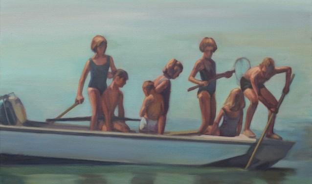 'Kids on a boat' van Karin Hanssen.
