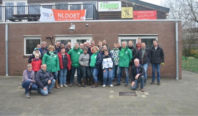 Vrijwilligers die afgelopen weekend actief waren tijdens NLdoet op Scouting Panoord.