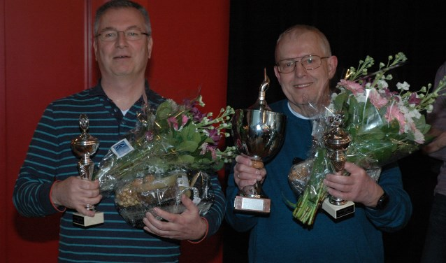 De hoofdprijswinnaars: Guus van Beest en Ferdinand Verwijs.