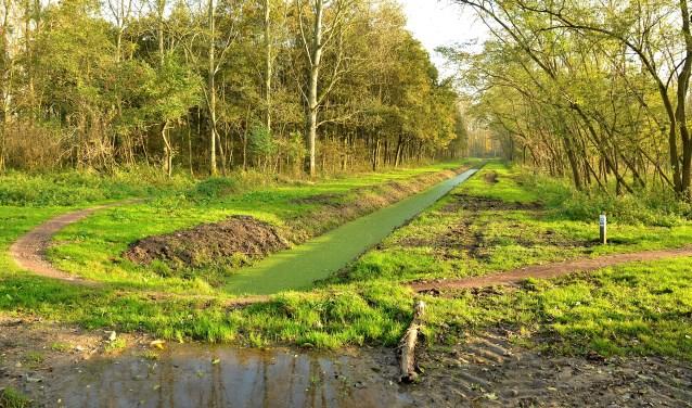 Opname van het Vlaardingen-Cultuurpad in de (nog) groene Broekpolder. (Foto: Frans Assenberg)