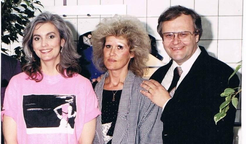v.l.n.r. country-legende Emmylou Harris, Cor en Greet Sanne