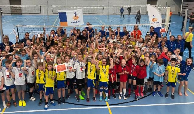 Het Rabobank Schoolvolleybaltoernooi. (Foto: Privé)