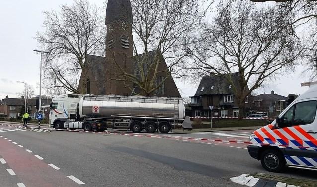 Voor de tweede keer in korte tijd was een fietser betrokken bij een ongeluk met een vrachtwagen op dit kruispunt.