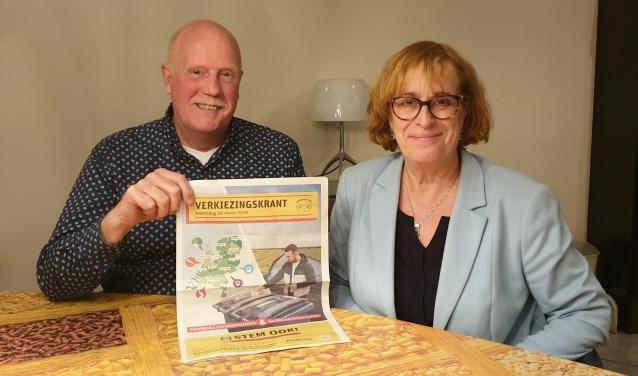 Ton Lammertink en Anja van Zantvoort roepen iedereen op om een stem uit te brengen bij de komende verkiezingen.