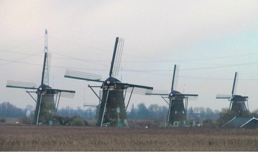 De molens van Kinderdijk btengt altijd heel veel toersiten op de been. (Archieffoto: Arco van der Lee)