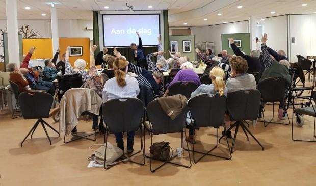 Startbijeenkomst Samen Bewegen in De Open Waard/Alerimus Oud-Beijerland. (foto: pr)