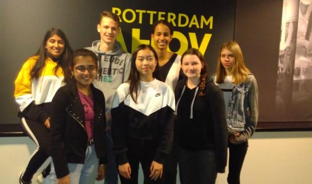 Na afloop van het examen in Ahoy Rotterdam.