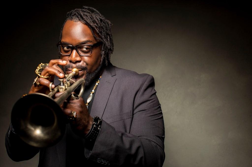 De Amerikaanse trompettist Marquis Hill.  Foto: Todd Rosenberg Photography © Persgroep