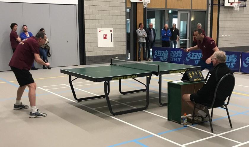 De halve finale tussen Rene en Martijn.