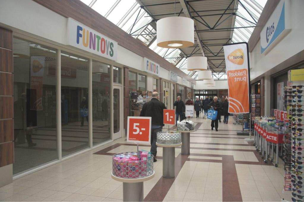 Winkelcentrum De Wyborgh maakt tegenwoordig een troosteloze indruk.