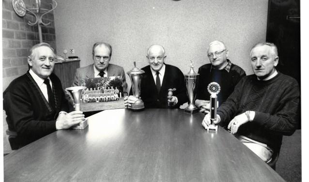 De heren oprichters van MVV'69, die bedachten dat Marle een eigen voetbalvereniging verdiende.