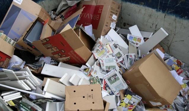 Inzamelen van oud papier bij de hoogbouw wordt anders in Veenendaal. (Foto: archief)