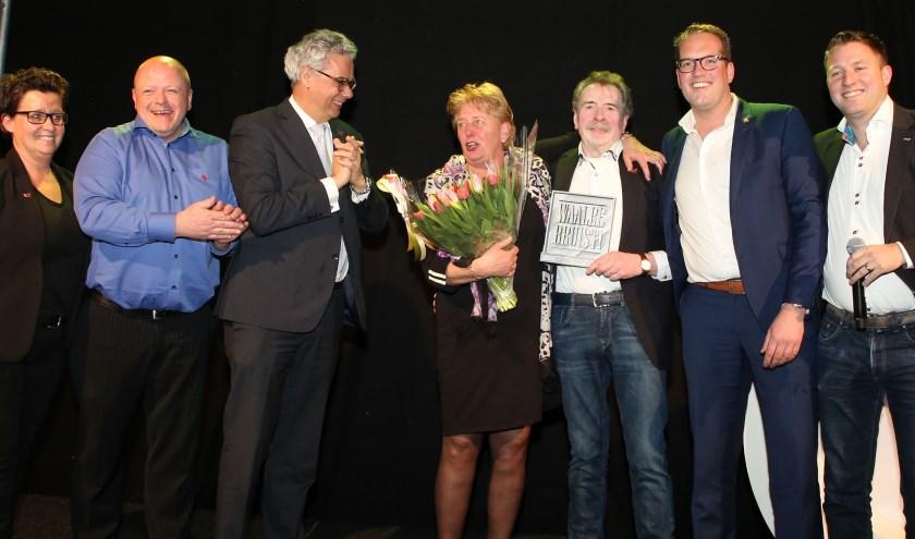 De Jury, bestuur en winnaars op het podium.