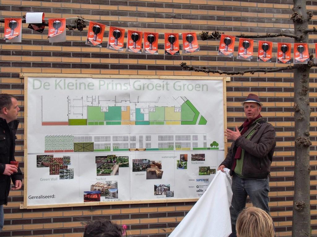 Onthulling projectbord Groene School Foto: Hans Gerritsen © Persgroep