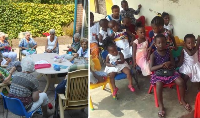 Vrijwilligers naaien, haken en breien kleding en knuffels voor de allerarmste kinderen van de wereld. (foto: PR)