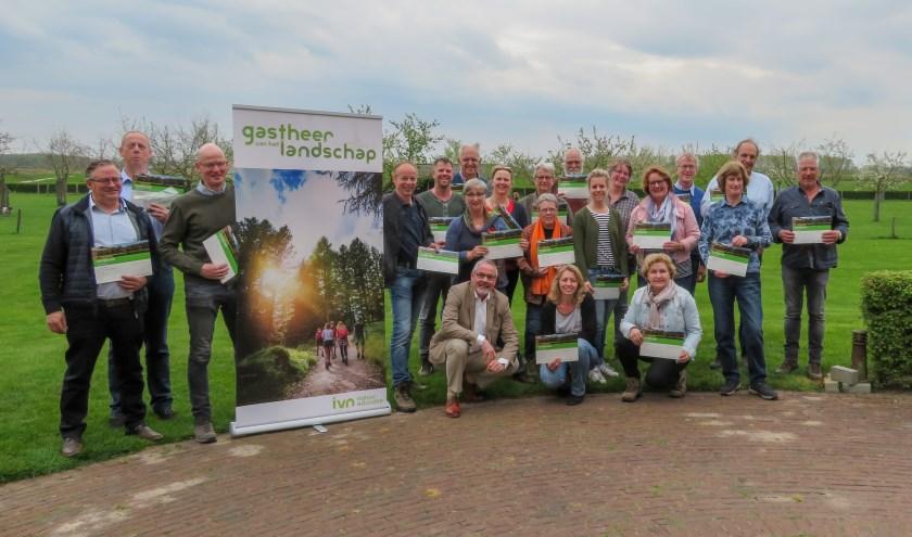 Vijfentwintig horeca- en recreatieondernemers uit gemeente Bronckhorst zijn benoemd tot Gastheren (en natuurlijk ook gastvrouwen) van het Landschap. (foto: PR)