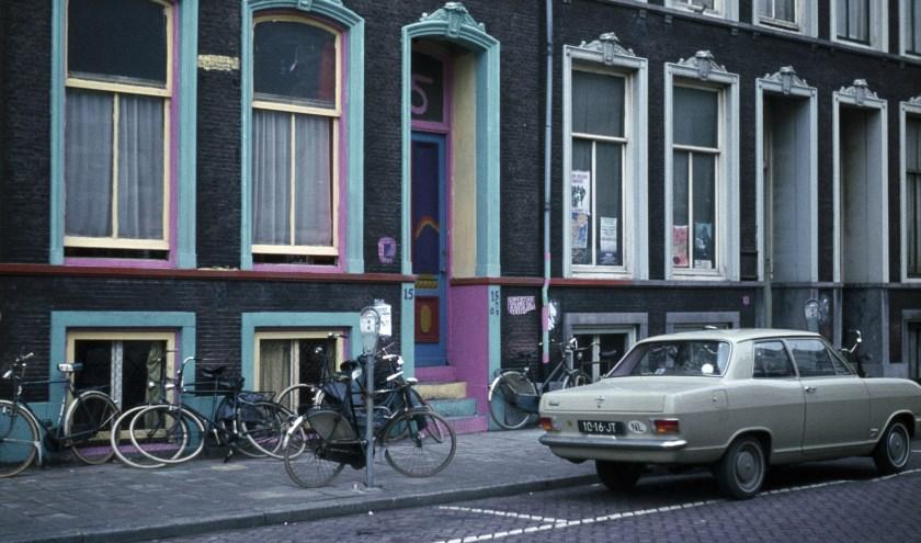 Het woonhuis van Eduard Sanders in de Westerstraat (nu Hoog Catharijne), de herdenking vindt plaats op Catharijnesingel 40. Foto: Utrechts Archief