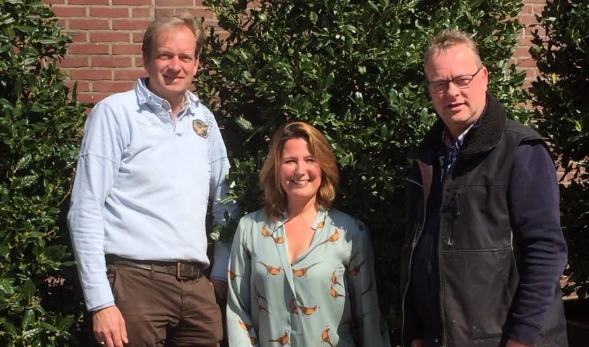 Het nieuwe bestuur (vlnr.) Jan Venema, Linda Hoogendoorn en Rian Laban