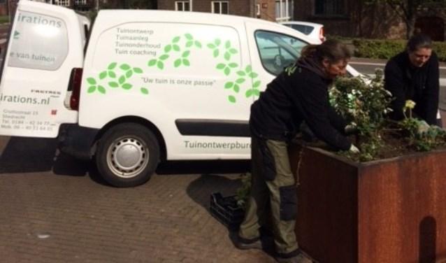 De Kerkbuurt wordt groener en fleuriger. (Foto: Privé)