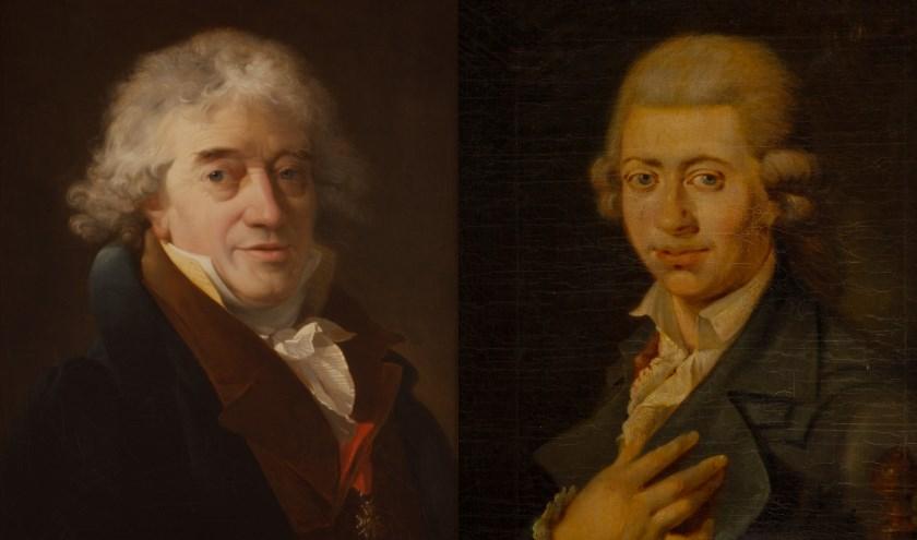 De gebroeders van Spaendonck, links Gerard (portret door Nicolas Antoine Taunay) en rechts Cornelis (portret Adriaan de Lelie en Johan Versfelt) waren invloedrijke figuren in hun tijd.