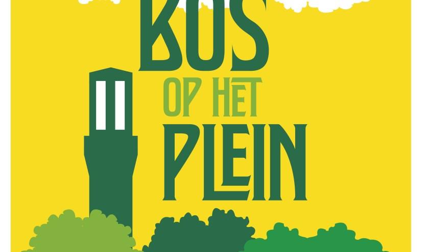 Poster Bos op het plein. Foto: Pierre Vallee