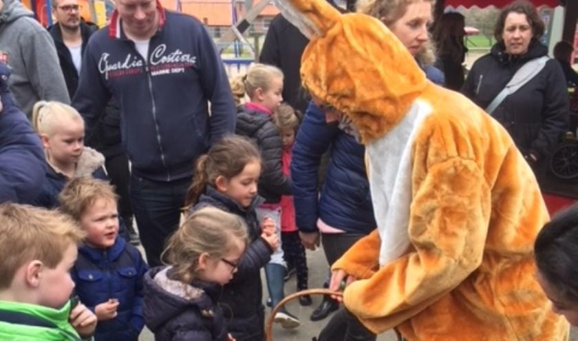 Kinderen kunnen op Tweede Paasdag (22 april) bij Dondertman terecht voor leuke activiteiten met een Paastintje. Eigen foto.