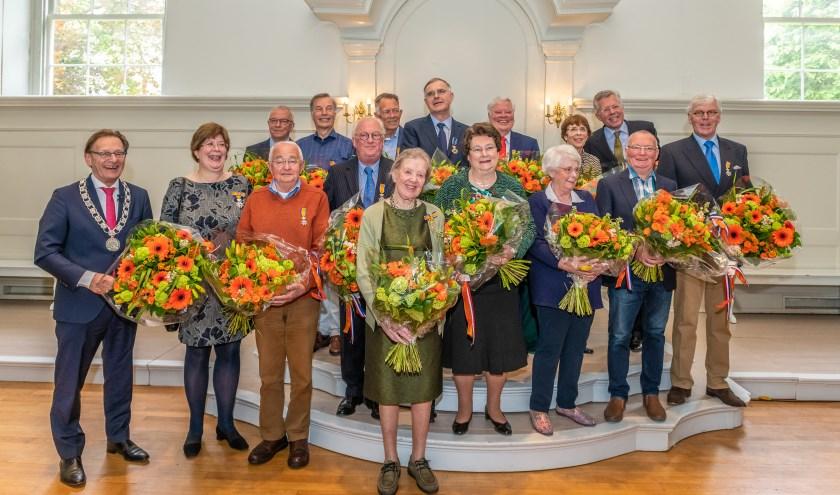 Koninklijke Onderscheidingen Gemeente Zeist 2019. FOTO: Hans Lebbe