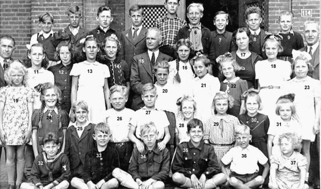 Een voorbeeld van een klassenfoto die al in het bezit is van de Historische Kring.