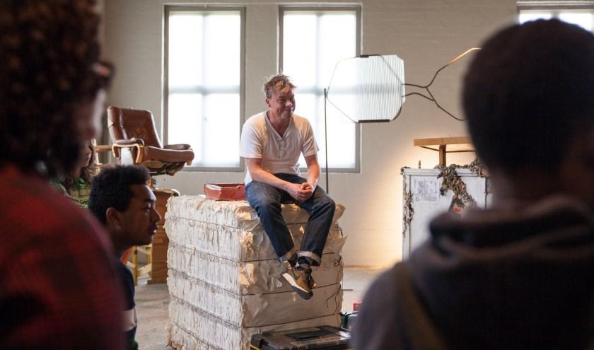 Kunstenaar David Bade bouwde met zijn team en bezoekers aan een reeks installaties geïnspireerd op het hiernamaals. Foto: Buitenplaats Doornburgh