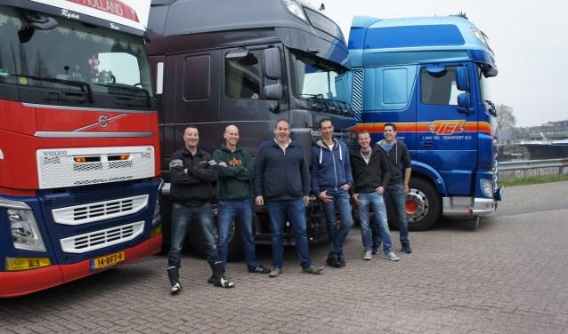 Truckers uit de hele Krimpenerwaard doen mee. (Foto: Thea van der Raaf)
