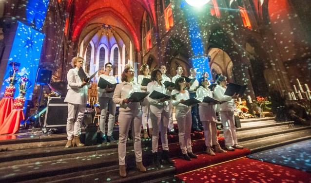 Het Cuijkse zangkoor Creation viert in de maanden mei en juni haar zilveren jubileum. (foto: Arjan Broekmans)