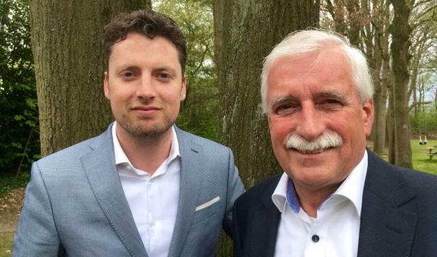 Wethouder Thom Blankers en presentator Leo Swaans. Foto: Ad Kraamer