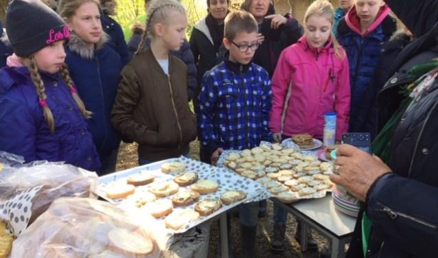De kinderen namen allemaal een doosje kruidenboter of -kaas mee naar huis.