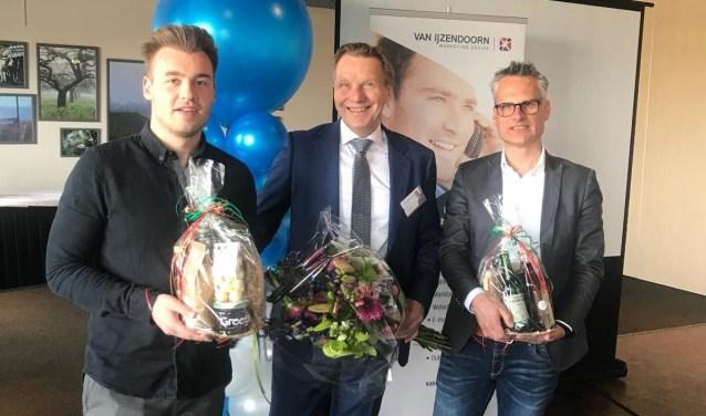 Het 15 jarig bestaan van Van IJzendoorn Marketing Advies werd gevierd met een kennissessie over Social Media, gepresenteerd door Stijn Bex (links), René van IJzendoorn (midden) en  Thierry Thijssen (rechts).