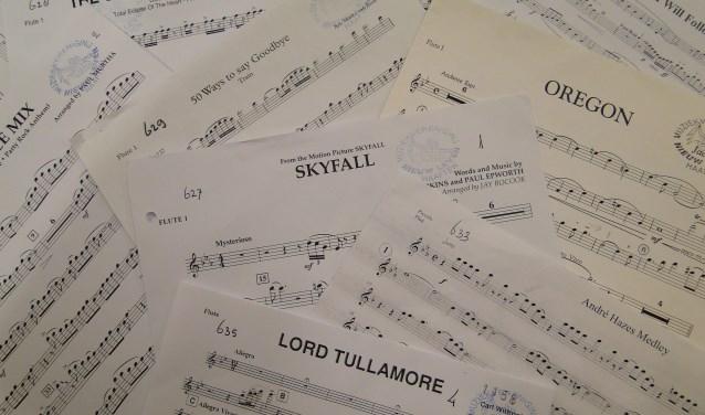 Enkele muziekstukken van de vereniging