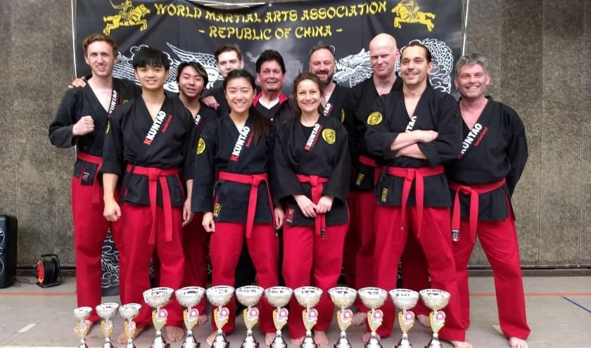 Leden vansportvereniging Kempo Kuntao Long Fu Moon op EK Kempo
