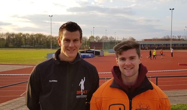 Om de goede begeleiding van trainers verder te verbeteren, zijn twee trainers omgeschoold tot trainersbegeleider: Jarno Beuving (links) en Maurits Brethouwer. (Foto: Climax)