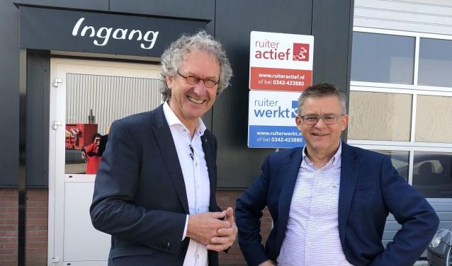 Teunis Ruiter (links) en Bert Brouwer (Careander) zijn allebei blij met de nieuwe samenwerking.