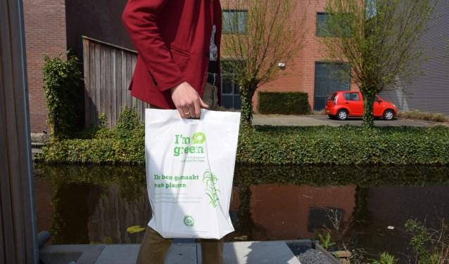 Het I'm Green-logo maakt duidelijk dat dit een bijzonder duurzaam plastic is.