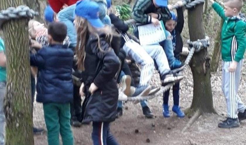 Met een gezonde dosis energie bestormden de kinderen de Sportroute.
