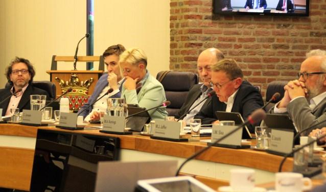 Marc Konings aan het woord over de uitgangspunten voor de begroting. Het was zijn 'maidenspeech' als fractievoorzitter. (Foto: Dick Baas)