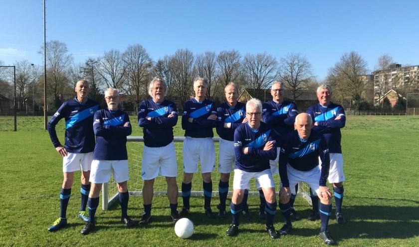 De Old Stars tijdens een toernooi in Deurne.