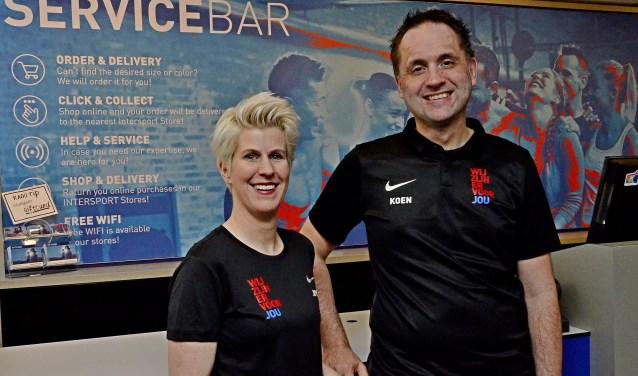 Joyce Mulder en Koen Luising zijn trots op de nieuwe zaak. (foto: Ab Hendriks)