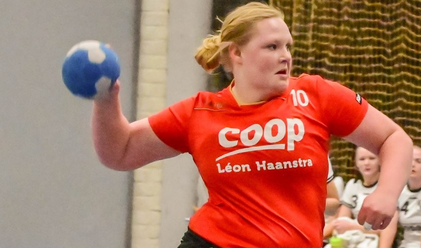 Femke Haverkamp in actie tijdens de wedstrijd. Foto: Math Willems.