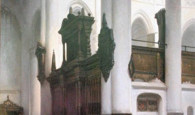 Een stilleven van Bosboom. Onder andere dit kerkinterieur hoort bij de expositie 'Een goed bewaard geheim' die bij Museum Slager te zien is.