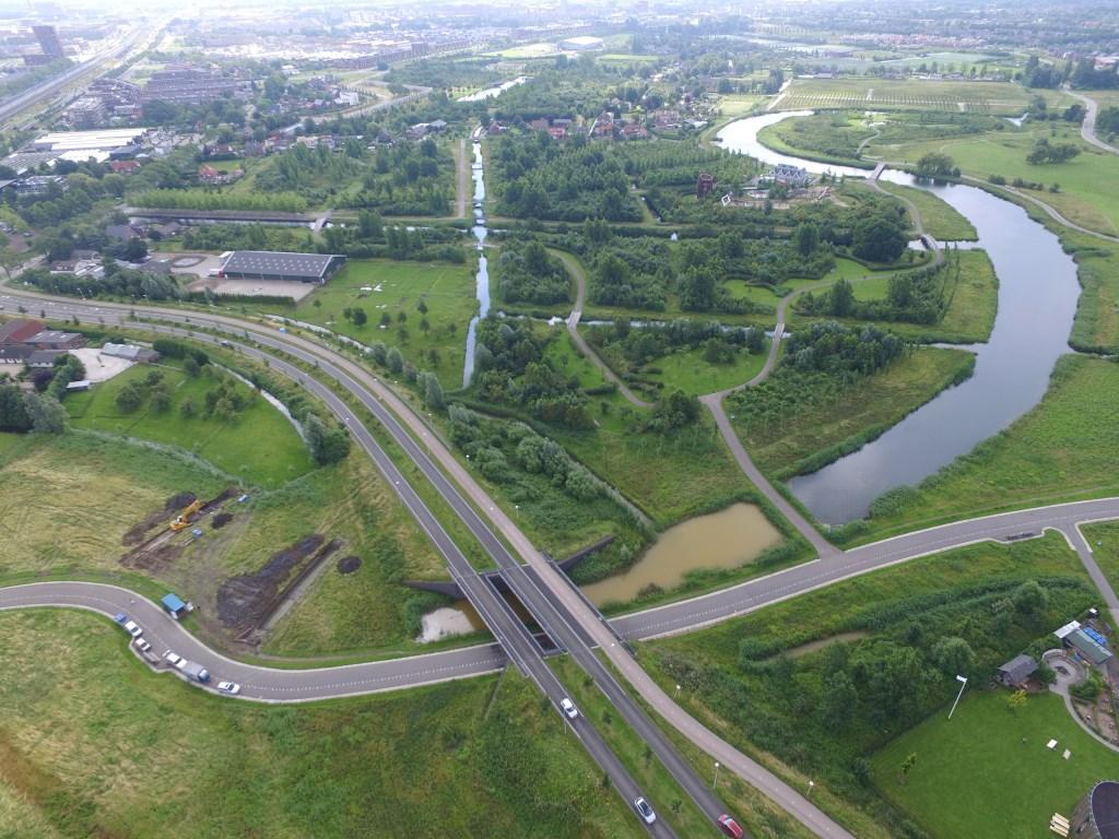 Een luchtfoto uit 2016 met links de proefsleuven van Vleuten 3.   © Persgroep